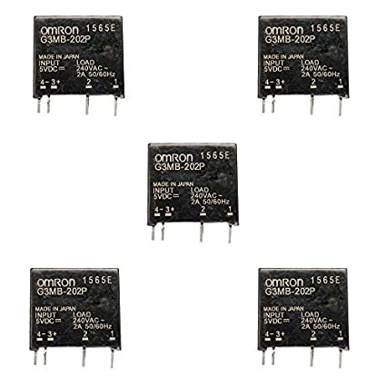 2X G3MB-202P-5VDC G3MB-202P DC-AC PCB SSR 5V Out 240V AC Solid State Relay M275