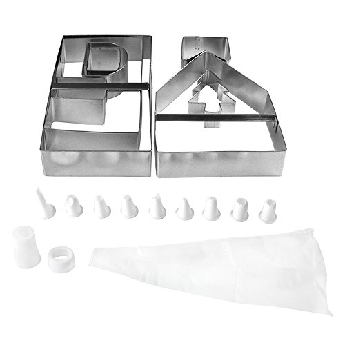 Fox Run Gingerbread House Cookie Cutter Bake Set