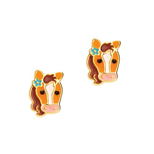 Girl Nation Cuties Collection Enamel Pretty Pony Post Earrings