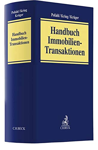 Immobilientransaktionen Gebundenes Buch – 30. Juni 2019 Mario Pofahl Wulf Kring Wolfram Krüger Sebastian Fuchs