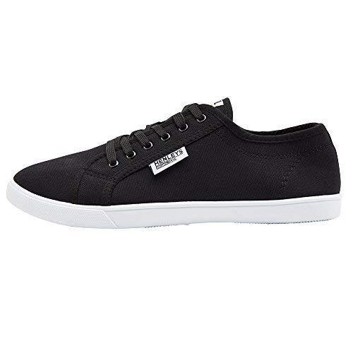 Connor Chaussures Hommes Toile Chaussures En Noir Décontracté Style Baskets Créateur Kenyon Plates Lacet Henleys I6qrw6x7E