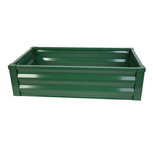 Greenes Fence Powder-Coated Metal Raised Garden Bed Planter 24'' W x 48'' L x 12'' H by Greenes Fence (Image #1)