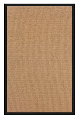 Linon 8 ft. x 2.6 ft. Athena Rug in Cork with Black Border -