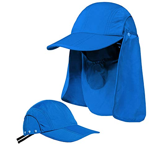 2846aaa6046a2c Sun Caps UV Protection UPF 50+Flap Hats Removable Face Neck Flap Cover Caps  Shade Hat for Women Men Baseball Backpacking Cycling Hiking Fishing Garden  ...
