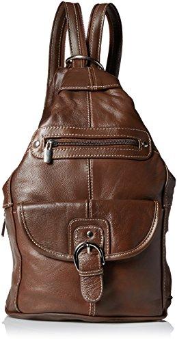 (Convertible Back Pack Purse, Mid Size Tear Drop Shoulder Bag, Backpack, Sling Bag. Genuine Leather (Dark Brown))