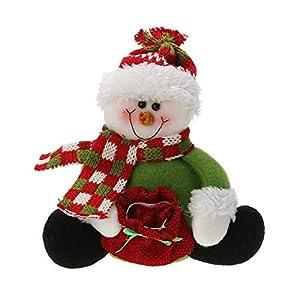Decorations Home - Christmas Artificial Santa Claus Snowman Holding Sweet Bag Gifts Toys Ornaments Navidad Decorations - Living Room Chanel Interiors Skull Beachy Decor 49