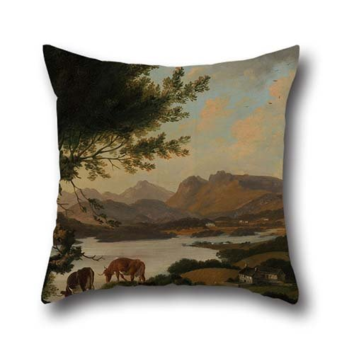 Pillowcase 18 X 18 Inches / 45 By 45 Cm(two Sides) Nice Choice For Monther,car Seat,adults,bedroom,lover,couples Oil Painting Julius Caesar Ibbetson - Lake Windermere