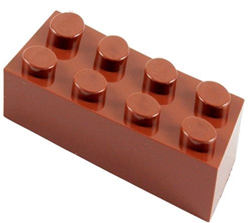 2x4 Brown Building Bricks: Pack of 180, Building Blocks Alternative Option to Leading Brand 2x4 Brown Brick (Brown)