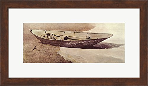 spindrift-by-andrew-wyeth-framed-art-print-wall-picture-brown-frame-with-hanging-cleat-23-x-13-inche
