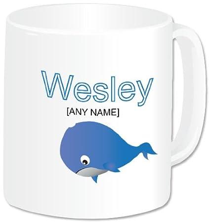 Whale Personalised White Ceramic Mug