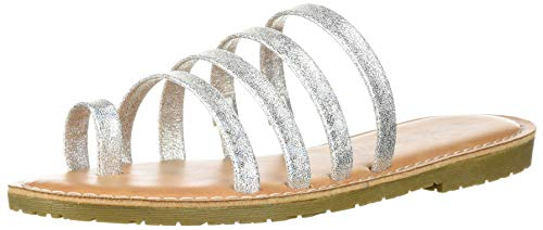 Dirty Laundry by Chinese Laundry Women's EKIA Slide Sandal, Silver Sparkle, 8.5 M US