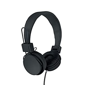 Vivitar VIV-1052-BLK Foldable Dj Mixer Headphones, Black