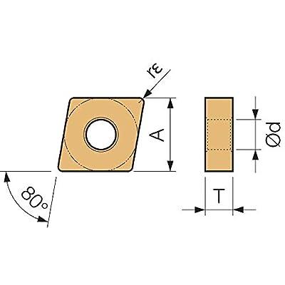 Kyocera CNMG 432PH CA5525 Grade CVD Carbide, Indexable Turning Insert (10 Pieces)