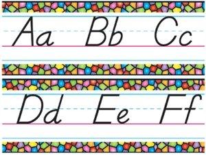 (Stained Glass Alphabet Line Manuscript Modern - T-8245 (Bulletin Board Set))