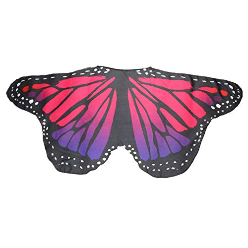 Child Kids Butterfly Wings Girls Bohemian Butterfly Print Shawl Unisex Children Pashmina Costume Accessory ICODOD(Hot Pink) -
