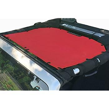 Rugged Ridge Eclpse Sun Shade fits 2007-2017 Jeep Wrangler JK JKU 13579.24 Red