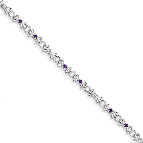 En argent Sterling 925 avec améthyste et diamant Motif JewelryWeb