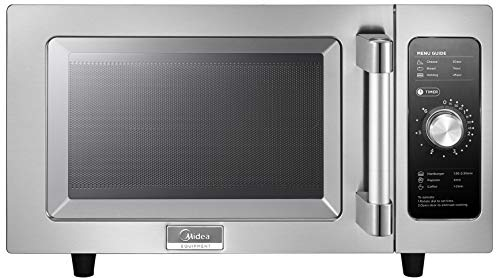 Midea 1025F0A Stainless Steel Countertop Commercial Microwave Oven, 1000W