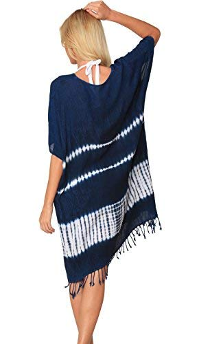 4fd70df8b6343 SLR Brands Plus Size Cotton Stretchy Flowy Loose Fit Tunic Casual Beach  Dress with Pocket (