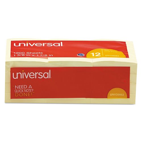 - UNV35662 - Universal Standard Self-Stick Notes