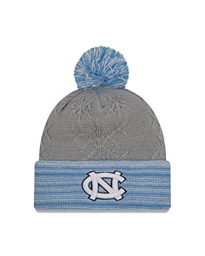 New Era NCAA North Carolina Tar Heels Women's Snow Crown Redux Cuff Knit Beanie, Gray, One Size