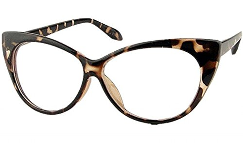 Mogor Women's Fashion Cat Eye Eyeglasses Frame Retro Style Leopard Print