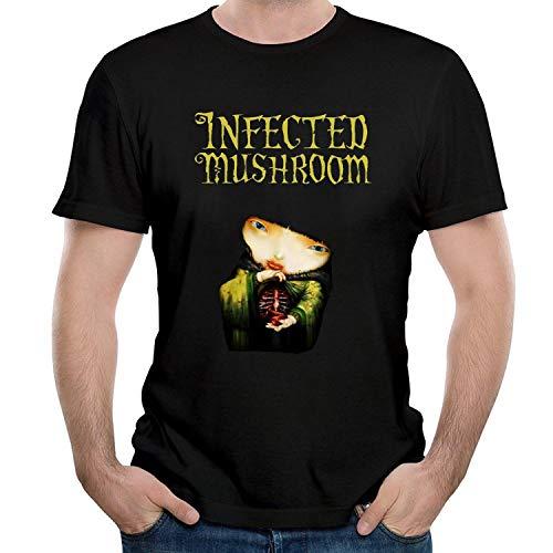 Katrina M Vaughn INF Men's T Shirts,Black,Infected Mushroom Art,Medium (Best Of Infected Mushroom)