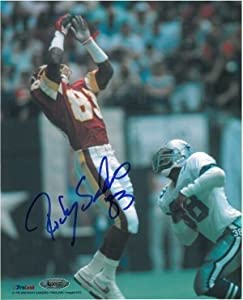 Ricky Sanders Signed Autograph Washington Redskins 8x10 Photo Productions - Autographed NFL Photos