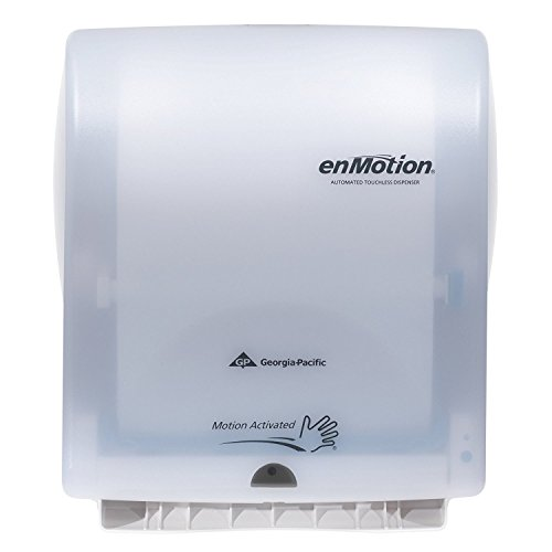 Georgia Pacific Enmotion 59407 Classic Automated Touchless Paper Towel Dispenser, Translucent White (Enmotion Touchless Towel Dispenser)