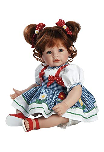 Adora Realistic Baby Doll - ToddlerTime Daisy Delight, 20 inch, Red Hair/Blue Eyes, CuddleMe Vinyl