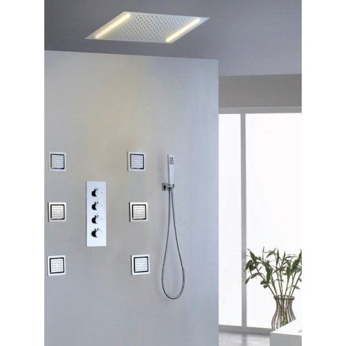 LightInTheBox Shower Faucet Contemporary LED / Rain Shower / Sidespray / Handshower Included Brass Chrome (Dresser Repair Kits compare prices)