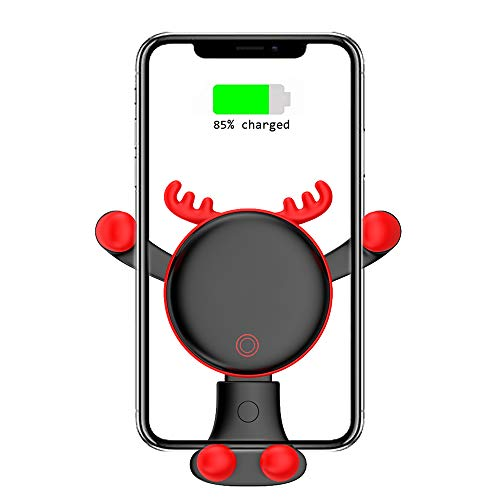 Wireless Fast Car Charger Mount, Adjustable Gravity Air Vent Phone Holder, 7.5W Compatible for iPhone XR XS Max XS X 8 8 Plus, 10W for Samsung Galaxy S9 S9+ S8 S8+ Note 8 and More