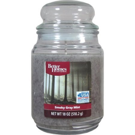 Better Homes and Gardens Smoky Gray Mist 18 oz Jar Candle