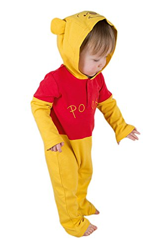 Disney Winnie The Pooh Jersey Romper with Hood - Age 0-3 Months -