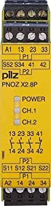 777301 Pilz - PNOZ X2.8P 24VACDC 3n/o 1n/c - Safety relay PNOZ X - E-STOP, safety gate, light grid