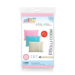 My First Set of Two Toddler Pillow Cases Fits Pillows Sized 12″ x 16″, Pink