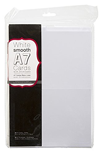 Heavyweight A7 Cards W/Envelopes (5.25''X7.25'') 50/Pkg-White Paper by Coredinations