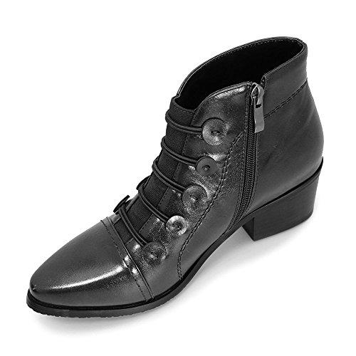 Lunar GLC458Belmont Ankle Boot, Nero
