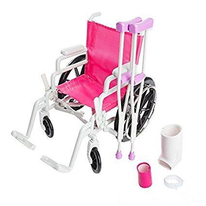 Muñeca Silla de ruedas Juego con accesorios, muñeca Muletas & Vendaje para 46cm WeGirls Muñecas