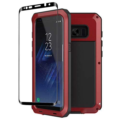 - Galaxy S8 Plus case,Tomplus Extreme Hybrid Armor Alloy Aluminum Metal Bumper Soft Rubber Military Heavy Duty Shockproof Hard Case For Samsung Galaxy S8 plus (Red)