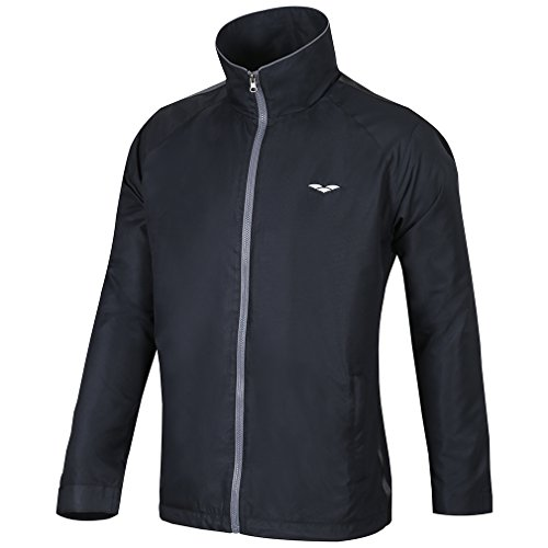 MIERSPORTS Men's Jackets Warm-Up Jackets for Outerwear, Water Resistant,Black and Navy Blue