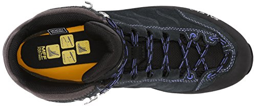 SALEWA Mountain Trainer Mid Gore-Tex, Scarpe da Arrampicata Donna Nero (Carbon/River Blue 0790)