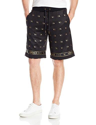 Versace Jeans Men's Felpa VJ Logo Short, Nero, Medium by Versace Jeans