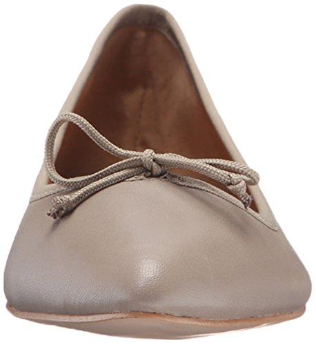 Corso Como Womens Recital Ballet Flat Light Taupe Silk Nappa