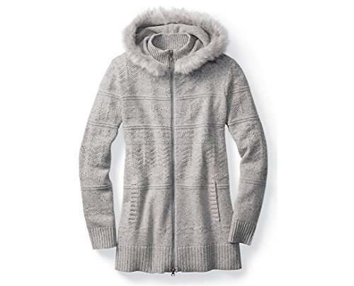 Smartwool Women's Crestone Hooded Sweater Jacket (Winter White Donegal) Medium by SmartWool