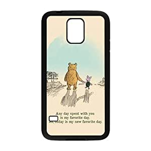 Happy Artistic bear and rabbit Cell Phone Case for Samsung Galaxy S5