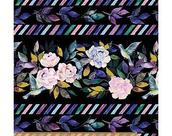 Windham Fabrics Romance Border Black Yard
