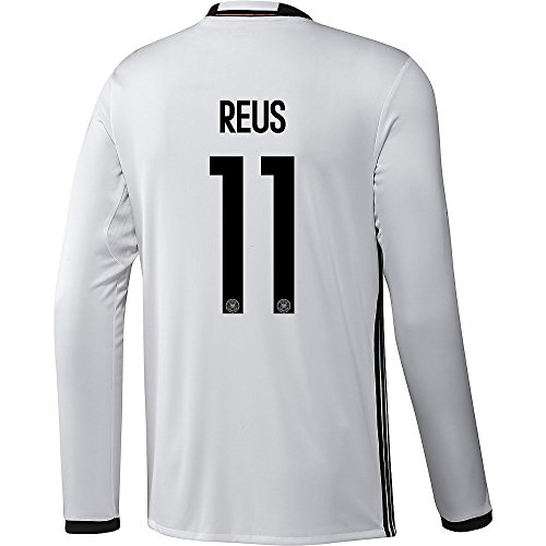 喪憲法ジェットAdidas REUS #11 Germany Home Soccer Jersey Euro 2016 - Long Sleeve (Authentic name and number of player)/サッカーユニフォーム ドイツ 長袖 ホーム用 ロイス 背番号11 Euro 2016