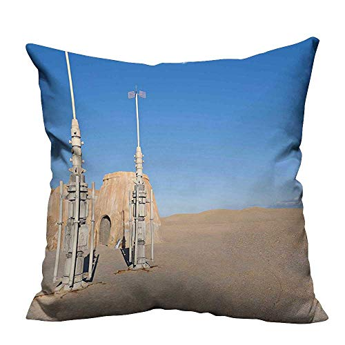 YouXianHome Decorative Throw Pillow Case of Famous Town of Famous Movie Set on The Planet Fantasy Galaxy Wars Ideal Decoration(Double-Sided Printing) 17.5x17.5 inch