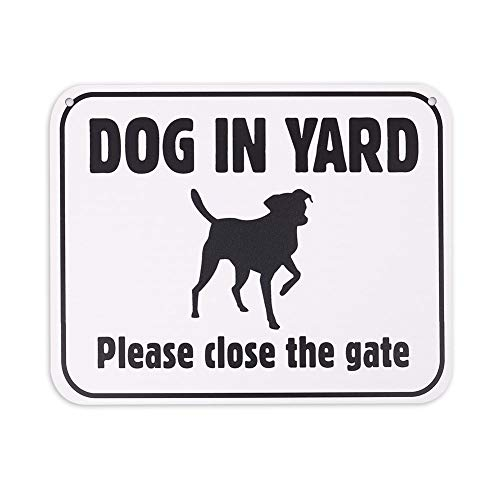 Fence Sign - WaaHome Dog in Yard Sign Please Close The Gate Signs,8